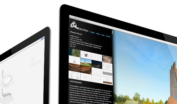 Responsive web design for HitchStan Arkitektur